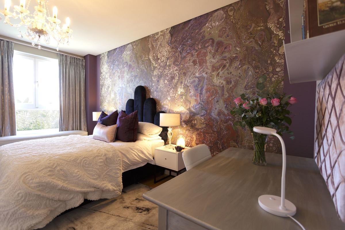 girls purple bedroom decor gemstone and crystal desk