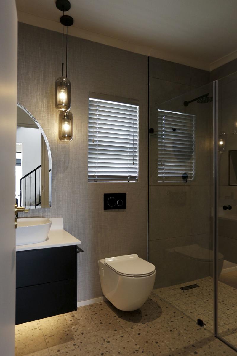 modern bathroom led lights pendent light