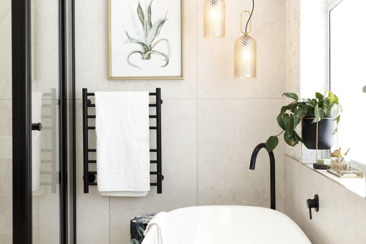 modern bathroom pendent light