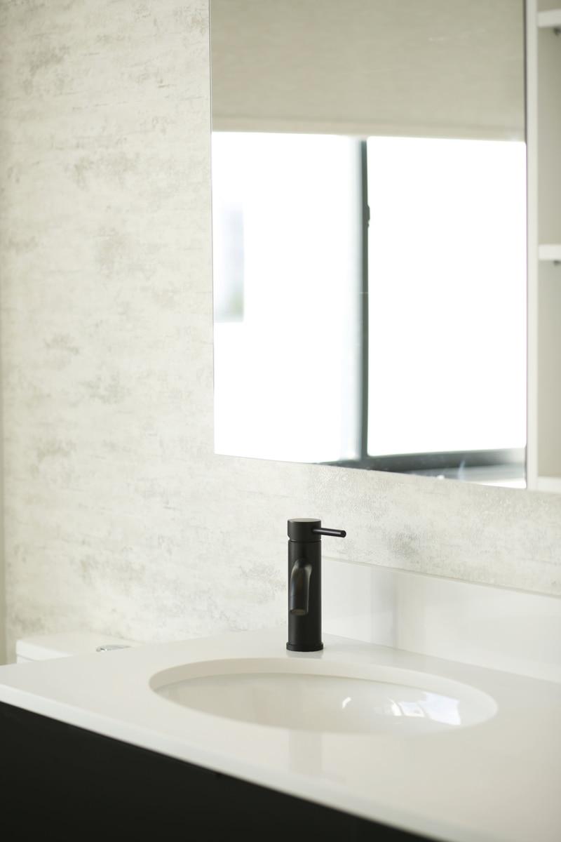 white bathroom black taps accessories