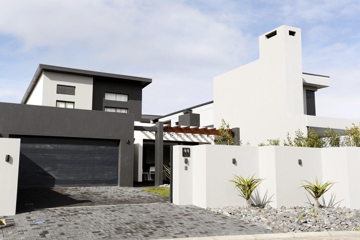 Modern retro home black white monochrome