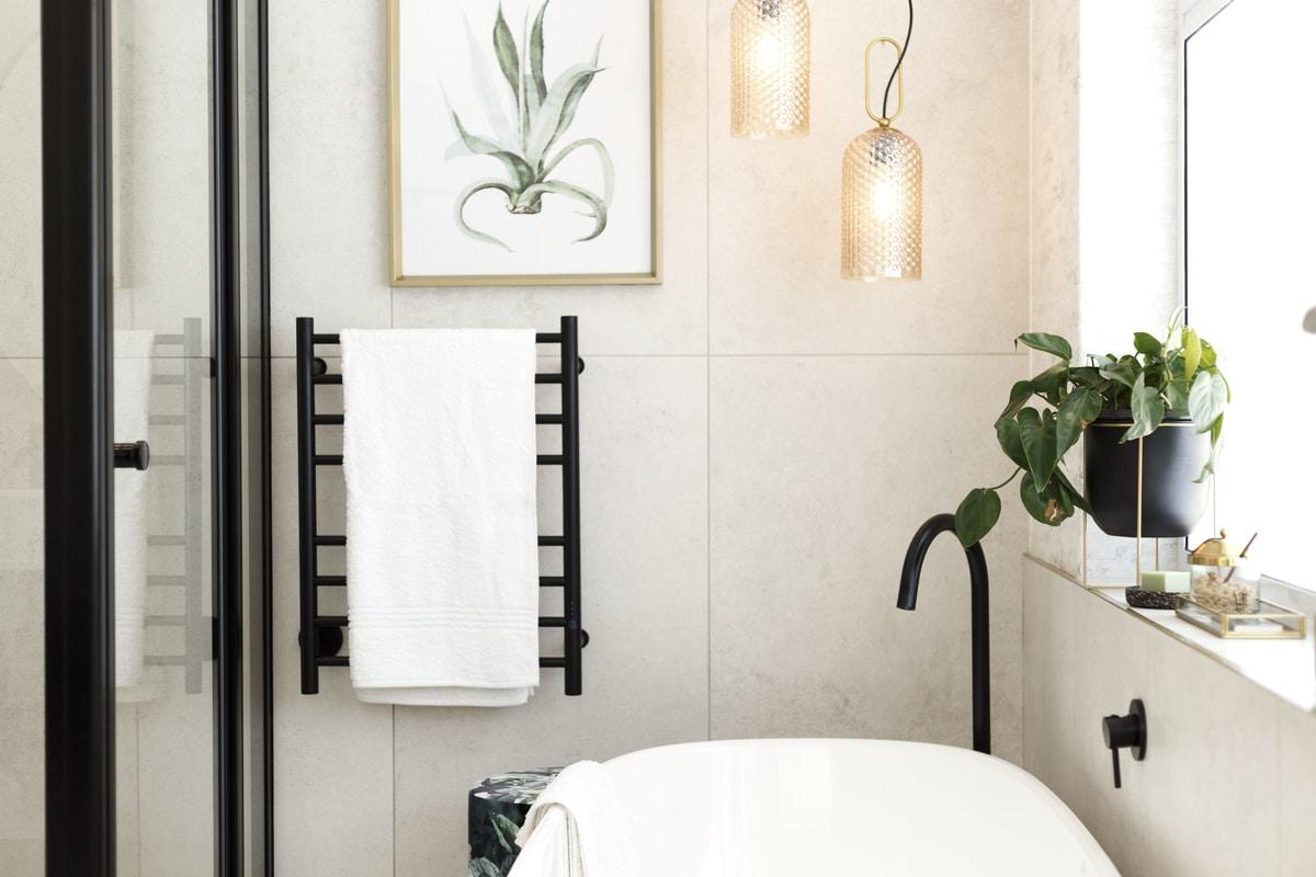 free stranding bath matte black tap modern bathroom