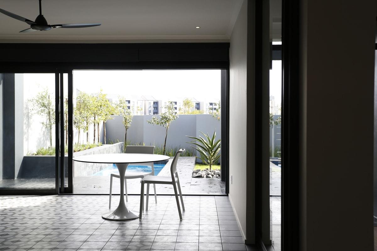modern retro braai room patio